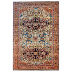 Incredible 19th Century Mission Malayer Rug