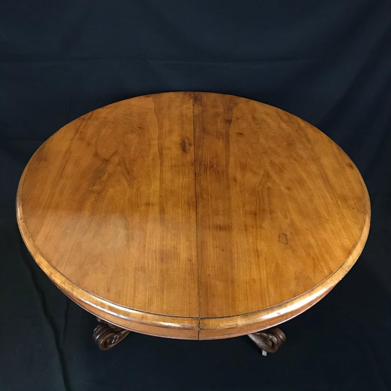 Incredible 19th Century Walnut Hunt Table with Boar, Dog, Deer and Fox In Excellent Condition For Sale In Hopewell, NJ