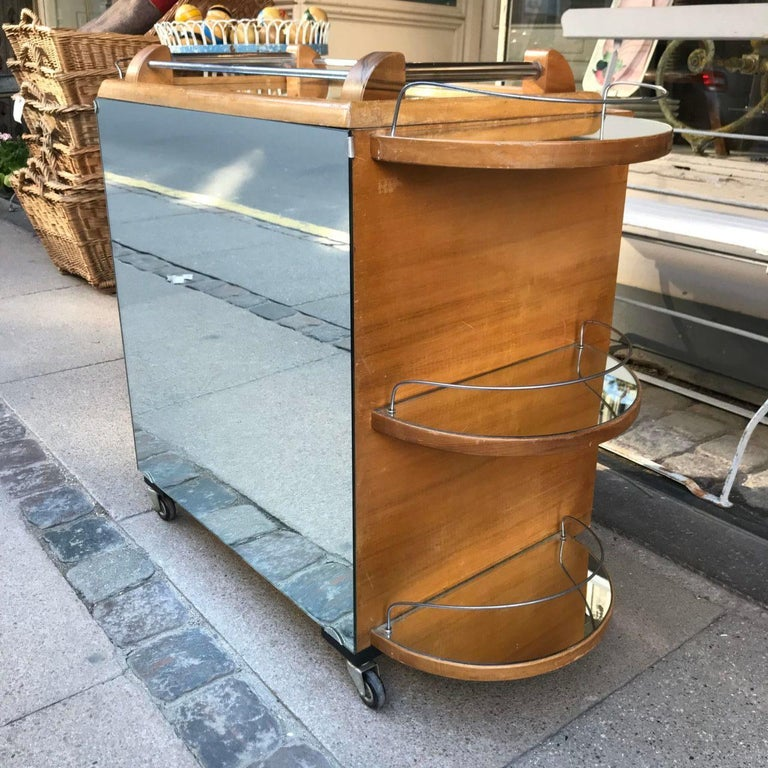 Incredible Art Deco French Bar, Serving Trolley For Sale 2
