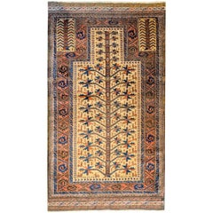 Incredible Late 19th Century Baluch Prayer Rug