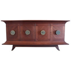 Incredible Mexican Modern Credenza, Frank Kyle, Pepe Mendoza