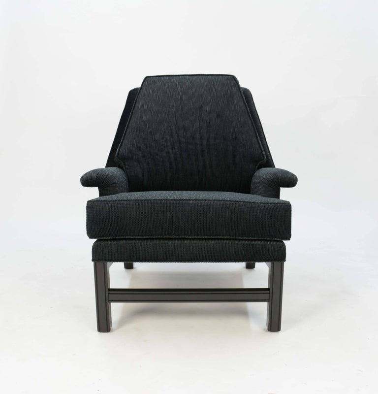 American Incredible Pair of Midcentury Club Chairs Completely Redone For Sale