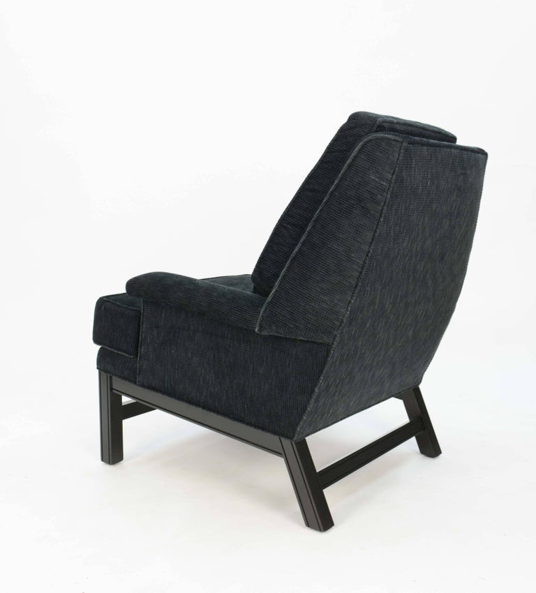 Wood Incredible Pair of Midcentury Club Chairs Completely Redone For Sale