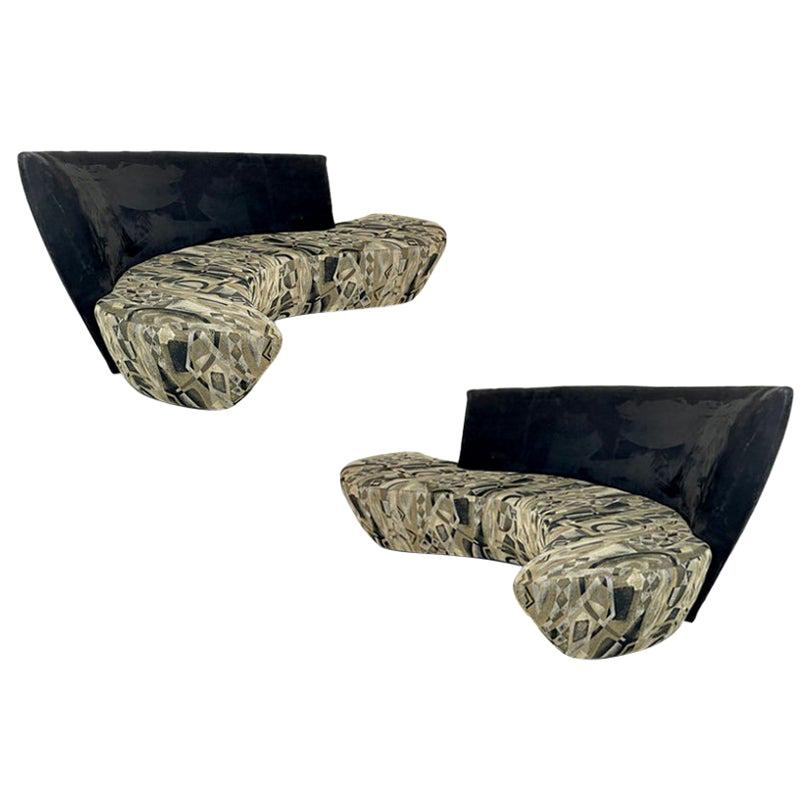 Incredible Pair Vladimir Kagan for Weiman/ Preview Bilbao Sofas Priced Per Sofa