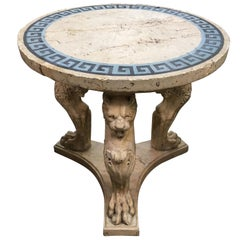 Incredible Rare 19th Century Italian Grand Tour Scagliola Center Table