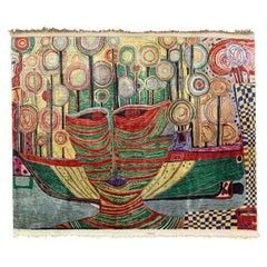 Incredible Silk Tapestry Inspired by Friedensreich Hundertwasser