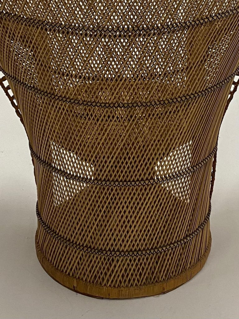 Philippine Incredibly Detailed Impressive in Scale Rattan Cobra Peacock Chair For Sale