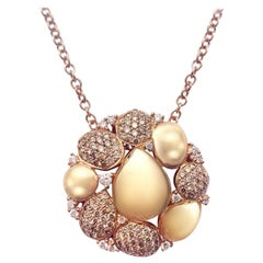 Incredibly Stylish Yellow Gold White Diamond 18 Karat Necklace