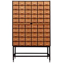 Index Plywood Cabinet Vintage 1960s Retro