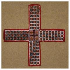 India, circa 1920 Beaded Chaupar Game Board