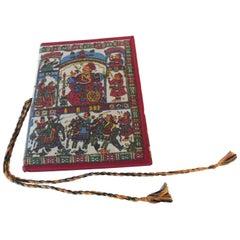 "India ""Palace on Wheels"" Travel Textile Covered Itinerary Folio"
