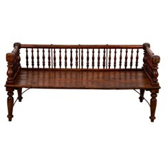 Indian 19th Century Spindle Back Settee