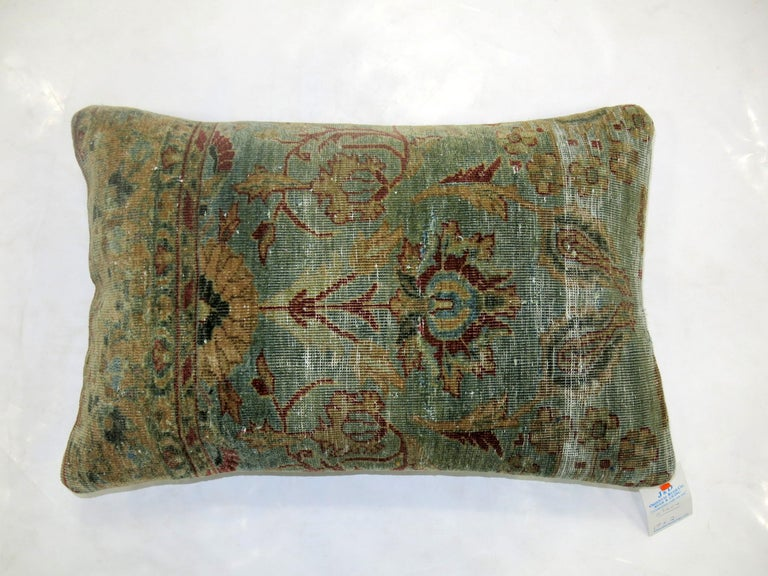 Indian Agra Rug Pillow In Good Condition For Sale In New York, NY