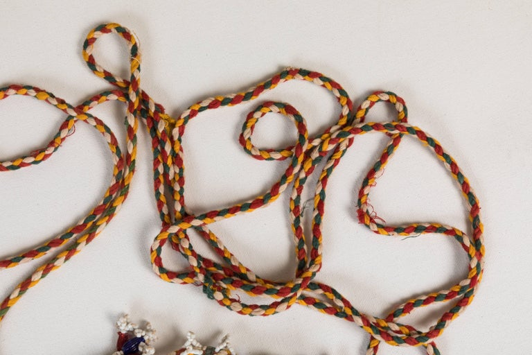 20th Century Indian Bead and Cloth Tassels For Sale