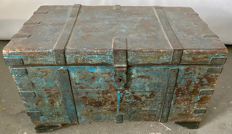 British Colonial Indian Blanket Chest For Sale
