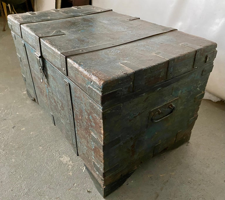 Wood Indian Blanket Chest For Sale
