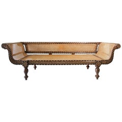 Indian Bone Inlaid Anglo-Indian Settee
