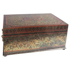 Indian Brass Covered Jewelry Box