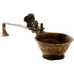 Indian Bronze Nandi Yoni Lingam Ceremonial Oil Lamp