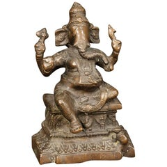 Indian Bronze Sculpture Depicting Divinity, 20th Century