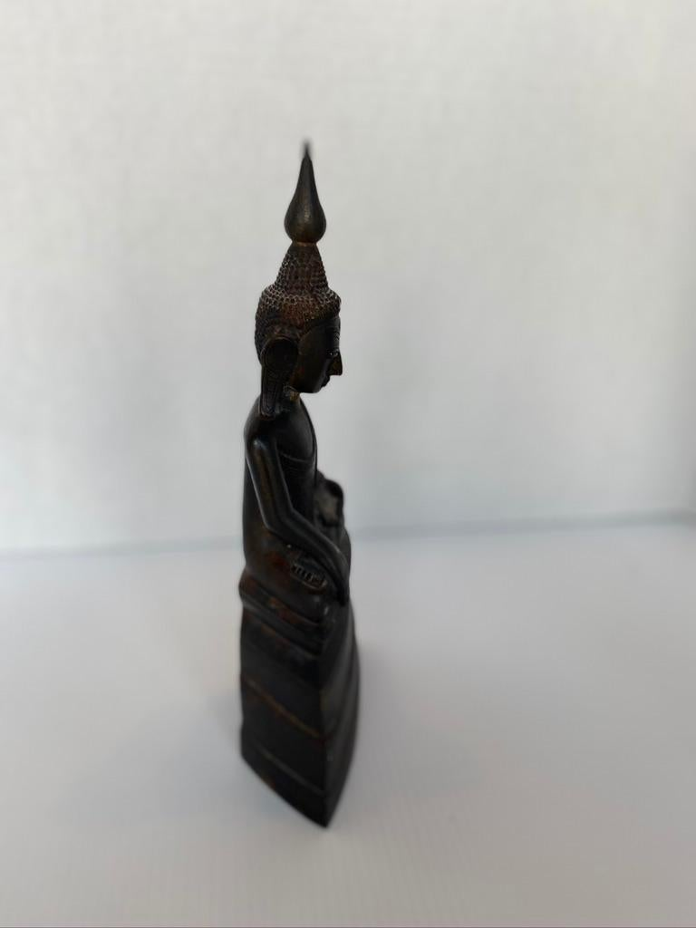 Cast Indian Buddha Shan Bronze with Prayer Inside For Sale