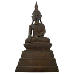Indian Buddha Shan Bronze with Prayer Inside