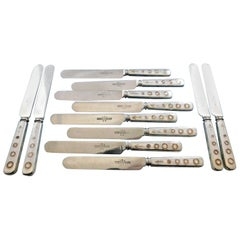 Indian by Tiffany & Co. Sterling Silver Dinner Knife Set William Hearst Copper