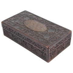 Indian Carved Wood Humidor Box