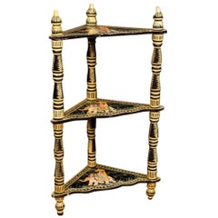 Indian Corner Shelves in Painted Wood from 20th Century
