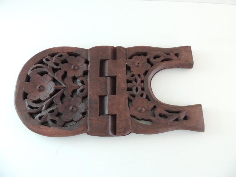 Late 20th Century Indian Hand Carved Book Display or Stand For Sale