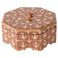 Indian Hand Painted Trinket Box from Kashmir