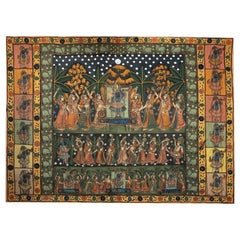 Antique 19th Century Indian Textile Mounted Wall Art