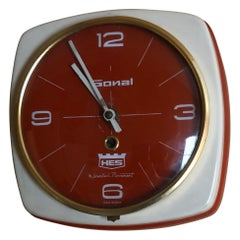 Indian HES Wall Clock in Heavy Metal Case