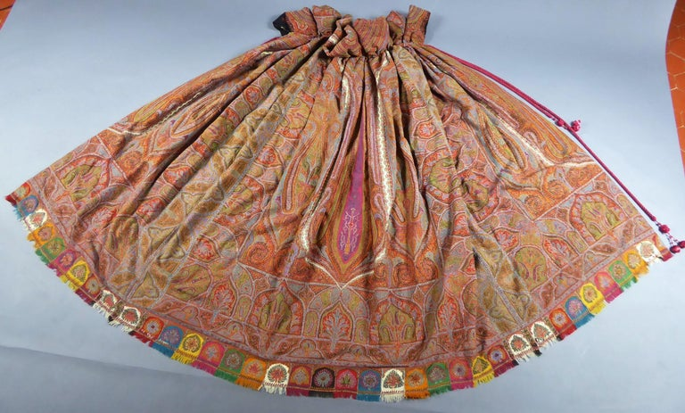 Indian Kashmir Shawl Cape Coat Circa 1860 75 For Sale At
