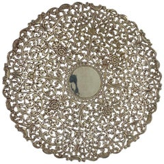 Indian Kutch Reticulated Silver Salver, circa 1890