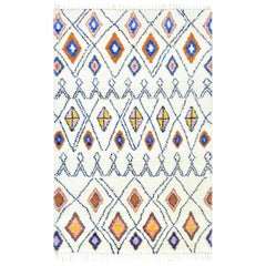 Indian Made Hand-Knotted Bohemian Moroccan Inspired Area Rug