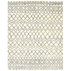 Indian Made Hand-Knotted Bohemian Moroccan Inspired Inspired Area Rug