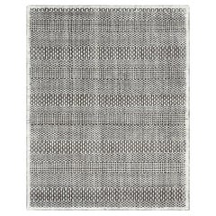Indian Made Hand-Knotted Contemporary Modern Area Rug
