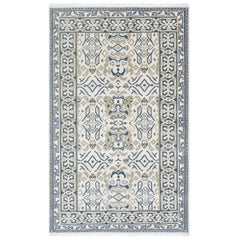 Indian Made Hand-Knotted Traditional Patterned & Floral Area Rug