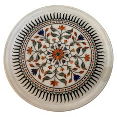 Indian Marble and Inlaid Charger
