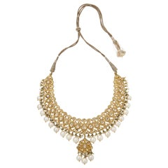 Indian Pearl and Diamond Necklace