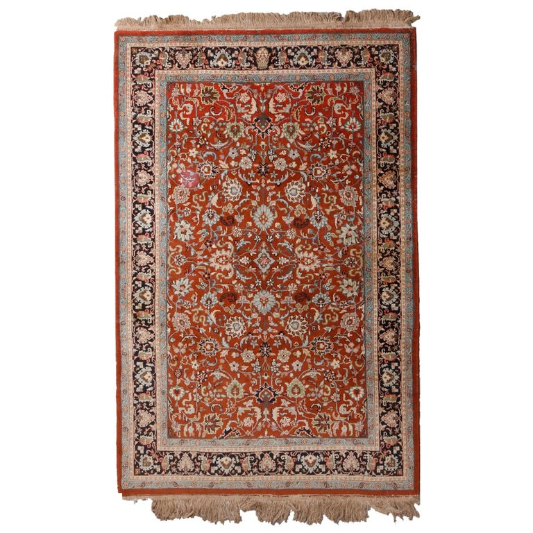 Indian Persian Floral Shah Abbas Rug, 20th Century For Sale