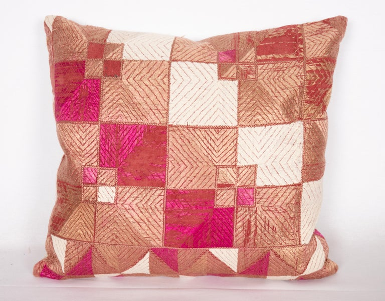 Tribal Indian Phulkari Pillow Cases, Early 20th Century