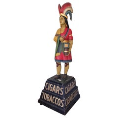 Indian Princess Cigar Store Figure Attributed to Samuel Anderson Robb circa 1890