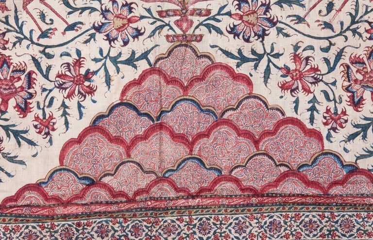 Islamic Indian Qalamkari Panel with Great Details, 19th Century For Sale