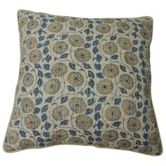 """Pair of Indian Quilted """"Lotus"""" Decorative Pillows"""