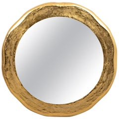 Indian Rough Cast Brass Mirror