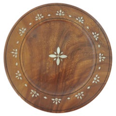 Indian Round Bone Inlay Round Tray