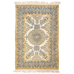 Indian Silk and Wool Rug