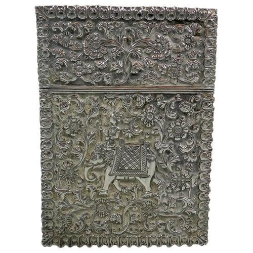Indian Silver Card Case, circa 1890